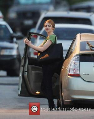 Emma Stone - Ryan Gosling and Emma Stone on the set of 'La La Land' - Santa Clarita, California, United...