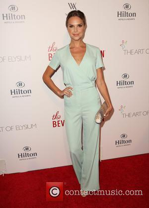 Arielle Kebbel - The Beverly Hilton 60th 'diamond' anniversary celebration at the Aqua Star Pool at The Beverly Hilton, Aqua...