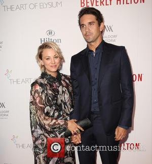 Kaley Cuoco , Ryan Sweeting - The Beverly Hilton 60th 'diamond' anniversary celebration at the Aqua Star Pool at The...