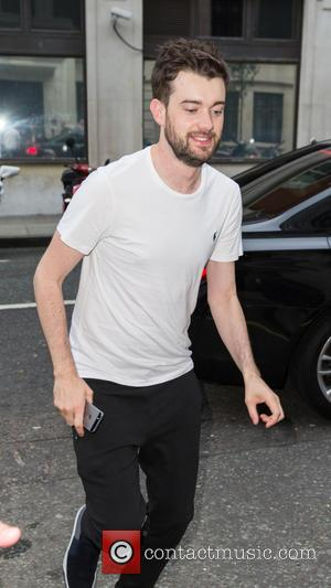 Jack Whitehall - Jack Whitehall running in late to appear on the Chris Evans Breakfast Show at BBC Western House...
