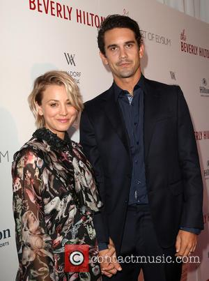 Kaley Cuoco , Ryan Sweeting - The Beverly Hilton 60th 'Diamond' Anniversary Celebration at the Aqua Star Pool - Arrivals...