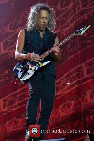 Metallica , Kirk Hammett - Metallica perform live in front of 63,036 fans at Ullevi stadium at Ullevi Stadium -...