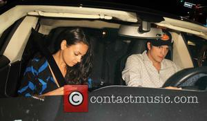 Ashton Kutcher , Mila Kunis - Ashton Kutcher and Mila Kunis celebrite her 32rd birthday at Toca Madera in Los...