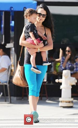 Jordana Brewster , Julian Form-Brewster - Jordana Brewster carries her son Julian whilst out and about in Brentwood, Los Angeles...