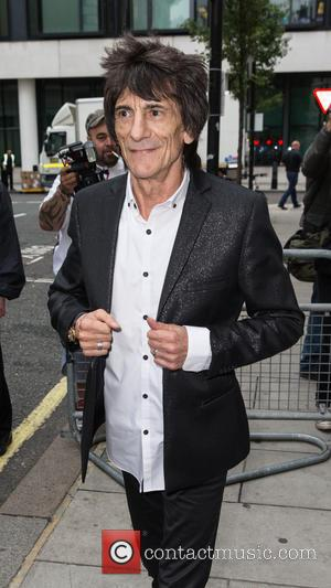 Ronnie Wood - Ronnie Wood pictured leaving the Radio 2 studio at BBC Western House - London, United Kingdom -...