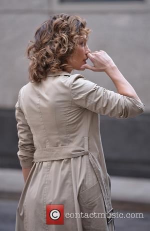 Jennifer Lopez - Filming on the set of 'Shades Of Blue' in New York - Manhattan, New York, United States...