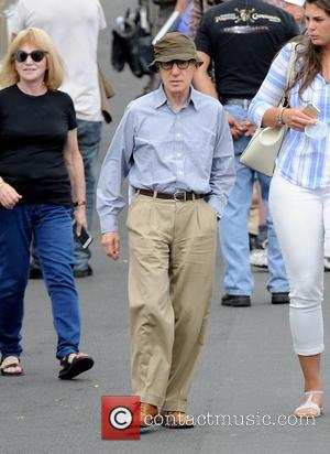 Woody Allen - Kristen Stewart driving a classic car for a scene in the upcoming movie 'Woody Allen Secret Project'...