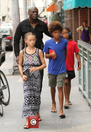 Seal, Henry Samuel, Johan Samuel , Lou Samuel - Seal and his children out and about in Beverly Hills -...
