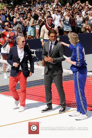 Tommy Hilfiger, Rafael Nadal , Jane Lynch - Tommy Hilfiger and Rafael Nadal Launch Global Brand Ambassadorship - Manhattan, New...