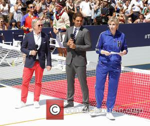 Tommy Hilfiger, Rafael Nadal , Jane Lynch - #Tommyxnadal celebrating the launch of Tommy Hilfiger's new line of custom suits...