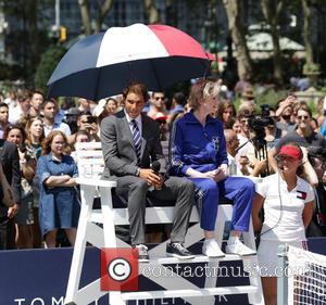 Rafael Nadal and Jane Lynch