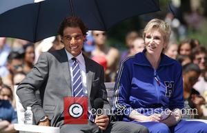Rafael Nadal , Jane Lynch - #Tommyxnadal celebrating the launch of Tommy Hilfiger's new line of custom suits and underwear...