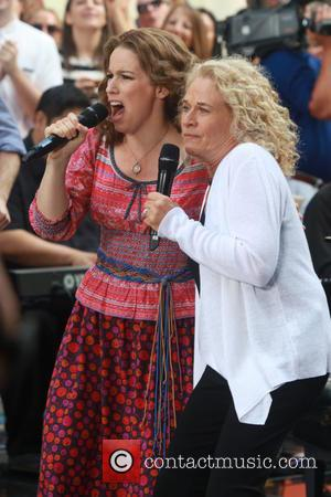 Carole King , Chilina Kennedy - Carole King performs on the TODAY show with actors Chilina Kennedy and Abby Mueller....