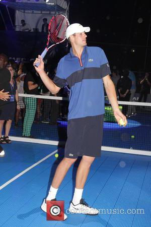 John Isner - American Express 'Rally on the River' event at Pier 97, Hudson River Park - New York City,...