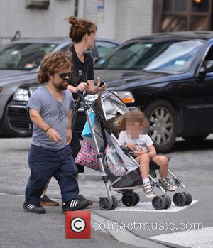 Peter Dinklage, Erica Schmidt , Zelig Dinklage - Peter Dinklage out with his family - New York City, New York,...