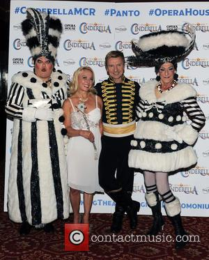 Jayne Torvill , Christopher Dean - 'Cinderella' Christmas panto photocall - Arrivals - Manchester, United Kingdom - Thursday 27th August...