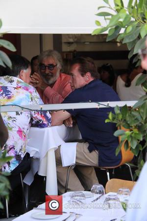 Arnold Schwarzenegger - Arnold Schwarzenegger has lunch with friends at E Baldi in Beverly Hills at beverly hills - Los...