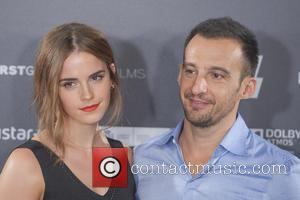 Alejandro Amenabar and Emma Watson