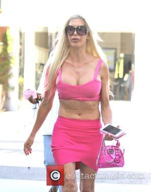 Angelique Morgan , Frenchy Morgan - Angelique 'Frenchy' Morgan out shopping in Los Angeles, donning a pink twinset and carrying...