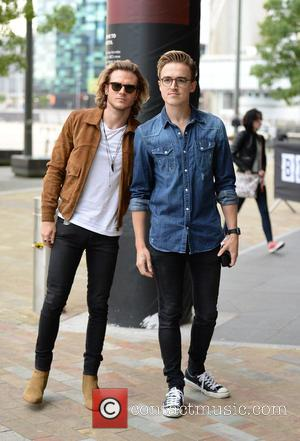 Dougie Poynter , Tom Fletcher - Celebrities arrive at the BBC Breakfast studios at MediaCityUK - Manchester, United Kingdom -...