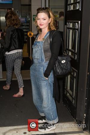 Holliday Grainger - Holliday Grainger pictured arriving at the Radio 2 studio to promote the new film