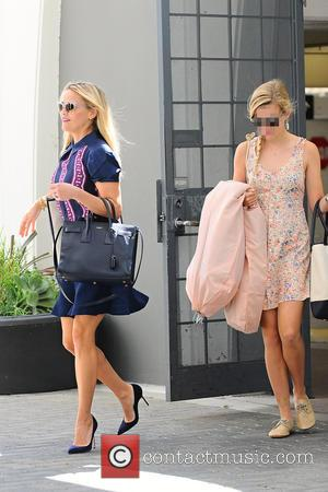 Reese Witherspoon , Ava Elizabeth Phillippe - Reese Witherspoon going to the office with her daughter - Brentwood, California, United...