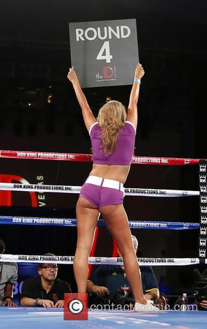 Ring Girl - Don King Productions & The D Las Vegas presents Outdoor Boxing at The DLVEC at The DLVEC...