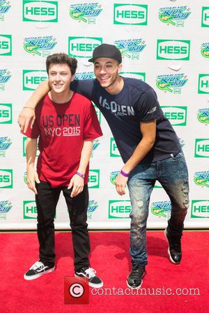 Myles Parrish , Kalin White - US Open Tennis Championship 2015: Arthur Ashe Kids' Day - Arrivals at USTA Billie...