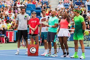 Novak Djokovic, Guest, Jack Sock, Saun T, Serena Willams , Rafael Nadal - US Open Tennis Championship 2015: Arthur Ashe...