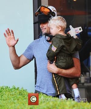 Josh Duhamel , Axl Duhamel - Fergie and Josh Duhamel out with their son Axl on his second birthday -...