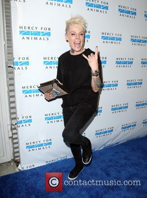 Otep Shamaya - Mercy For Animals Hidden Heroes Gala at Unici Casa in Culver City - Arrivals at Unici Casa...