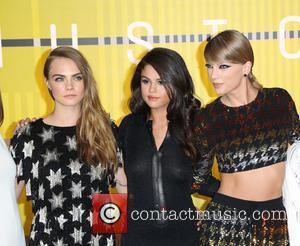 Cara Delevingne, Selena Gomez and Taylor Swift