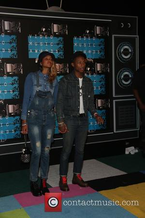 Pharrell Williams , Helen Lasichanh - 2015 MTV Video Music Awards (VMA's) at the Microsoft Theater - Arrivals at The...