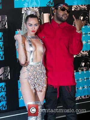 Miley Cyrus , Mike Will Made It - 2015 MTV Video Music Awards (VMA's) at the Microsoft Theater - Arrivals...