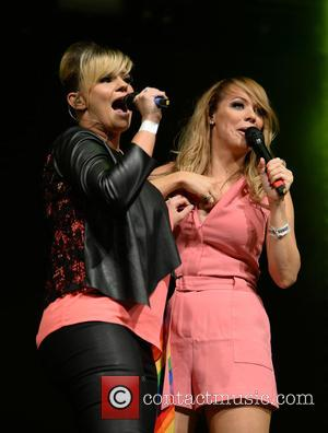 Kerry Katona , Liz McClarnon - Atomic Kitten perform on main stage at Manchester Pride's The Big Weekend - Manchester,...