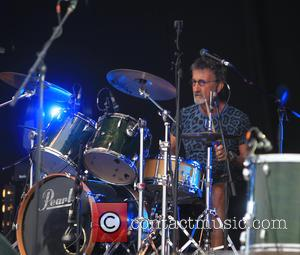 Eddie Jordan - Eddie Jordan drums with his band Eddie and the Robbers - Guilford, United Kingdom - Sunday 30th...