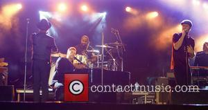 Mark Owen, Gary Barlow , Howard Donald - Take That close Carfest festival cars and music - Guilford, United Kingdom...