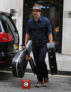 Tristan Mackay - Singer Tristan Mackay seen leaving BBC Radio Two Studios in London - London, United Kingdom - Sunday...