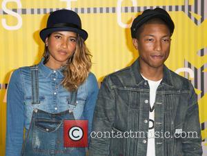 Helen Lasichanh , Pharrell Williams - Celebrities attend 2015 MTV Video Music Awards at Microsoft Theater. at Microsoft Theater -...