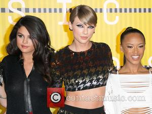 Model Gigi Hadid, model Martha Hunt, Actress/singer Selena Gomez, recording artist Taylor Swift , actress Serayah - Celebrities attend 2015...