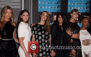 Hailee Steinfeld, Cara Delevingne, Selena Gomez, Taylor Swift , Serayah - The 2015 MTV Video Music Awards at The Microsoft...