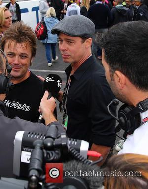 Brad Pitt - 2015 Octo British Grand Prix MotoGP at Silverstone at Silverstone - Northampton, Northamptonshire, United Kingdom - Sunday...