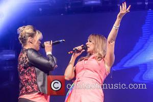 Kerry Katona , Liz McClarnon - Little Boots (Victoria Hesketh) and Atomic Kitten on stage at Gay Pride in Manchester...