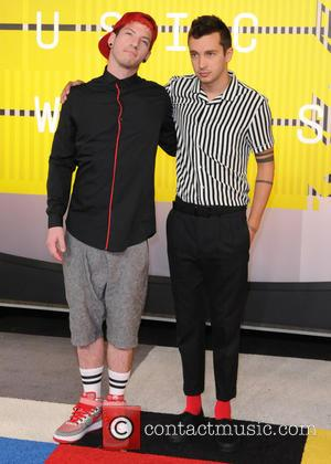 21 Pilots - 2015 MTV Video Music Awards (VMA's) at the Microsoft Theater - Arrivals - Los Angeles, California, United...
