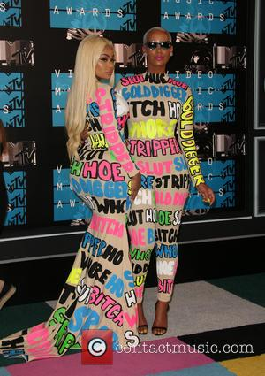 Blac Chyna , Amber Rose - 2015 MTV Video Music Awards (VMA's) at the Microsoft Theater - Arrivals at The...