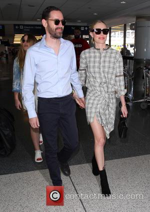 Kate Bosworth , Michael Polish - Kate Bosworth and Michael Polish arrive at Los Angeles International (LAX) airport - Los...