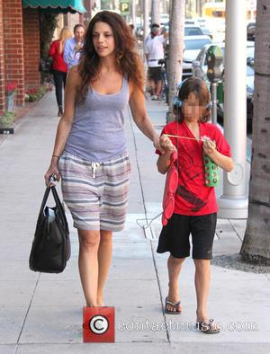 Vanessa Ferlito , Vince Ferlito - Vanessa Ferlito and her son Vince out in Beverly Hills at beverly hills -...