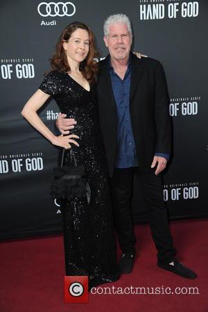 Linda Gegusch and Ron Perlman