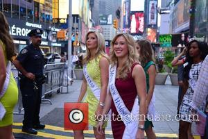 Contestant - Miss America contestants in Times Square at Miss America, Times Square - Manhattan, New York, United States -...