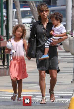 Halle Berry, Nahla Aubry and Maceo Martinez
